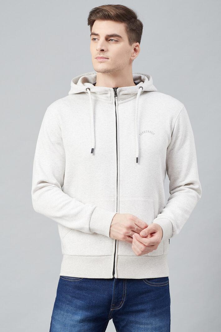 Fahrenhet Hooded Fleece Sweatshirt White