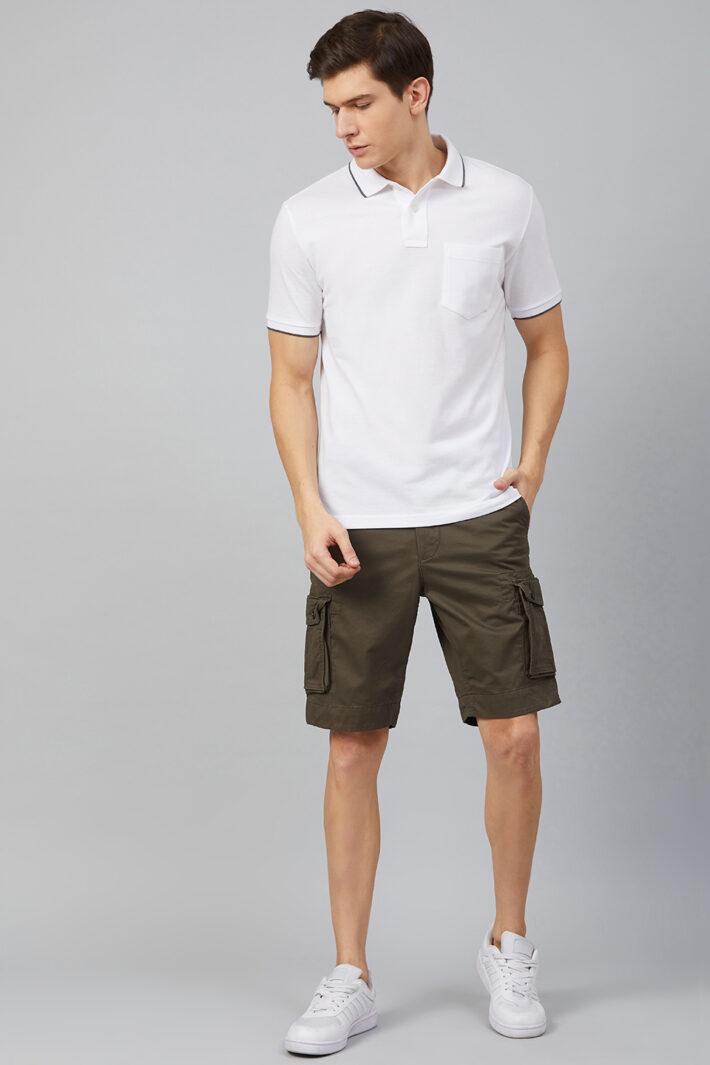 Fahrenheit Cargo Straight Fit Shorts Brown