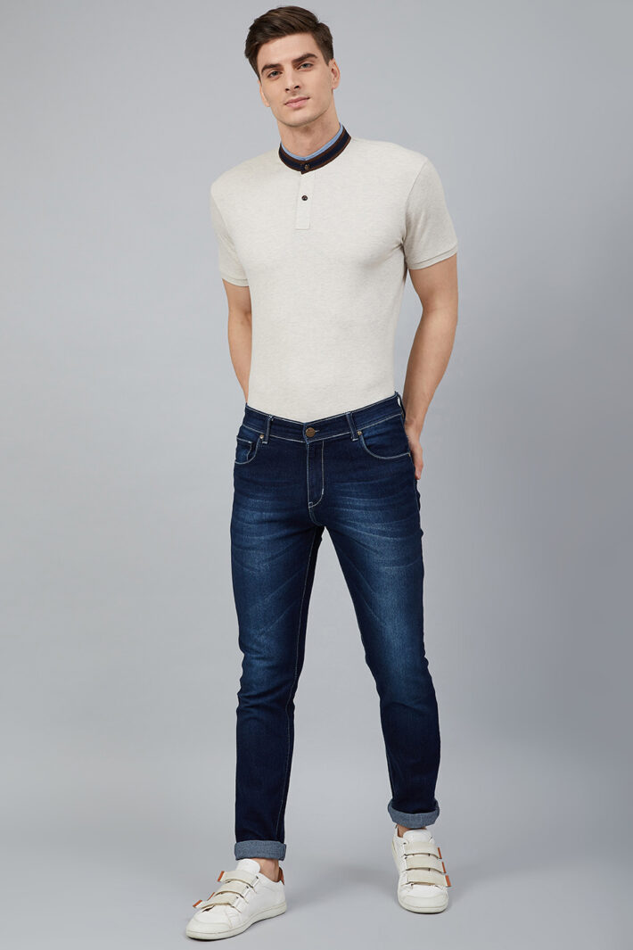 Fahrenheit Solid Stand-Up Collar Polo Shirt White