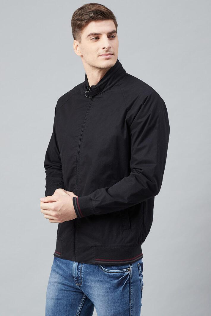 Fahrenheit Solid Cotton Jacket Black