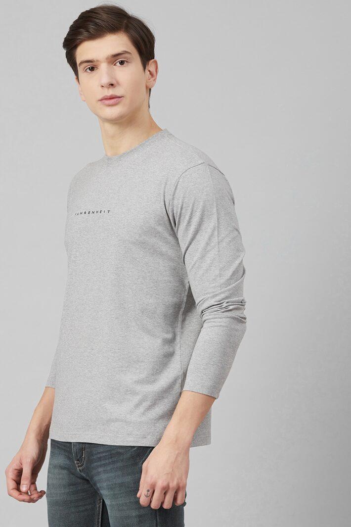 Fahrenheit Lycra Jersey Round Neck Grey