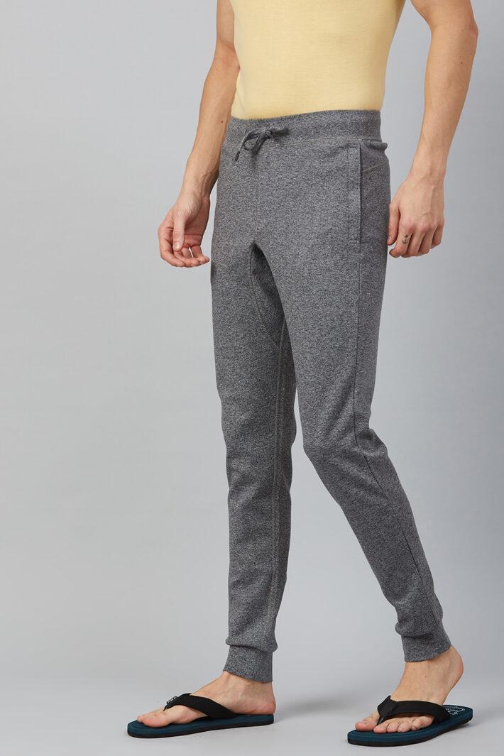 Fahrenheit Interlock Pant with Ribbed Hem Grey