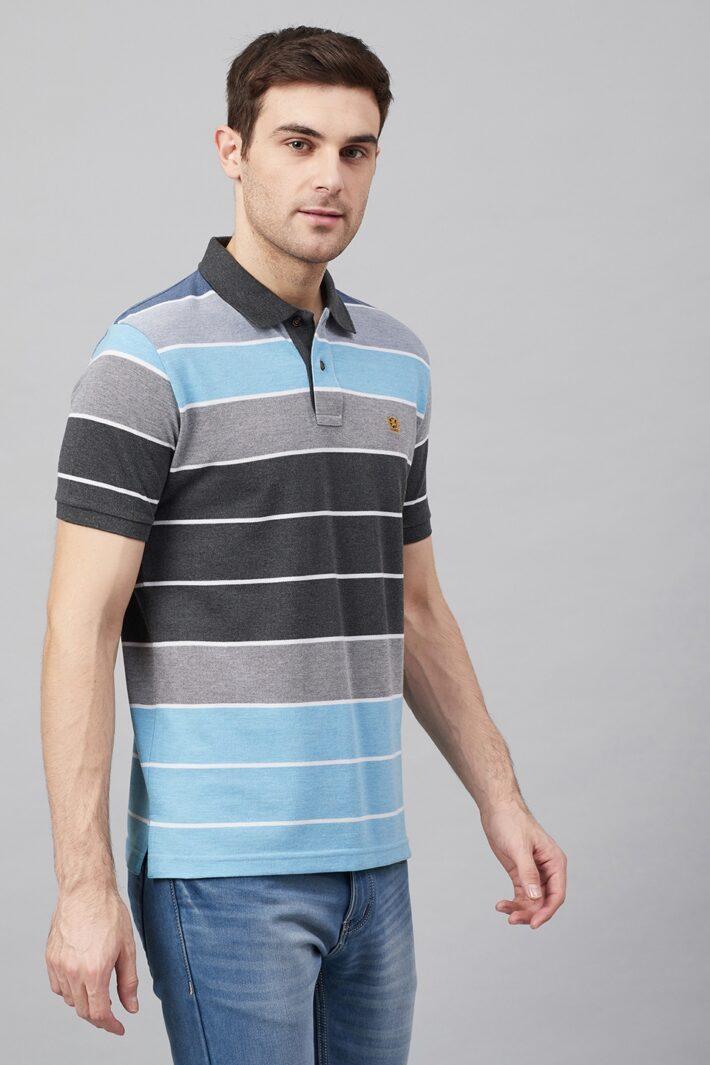 Fahrenheit Colourblock Stripes Polo Shirt