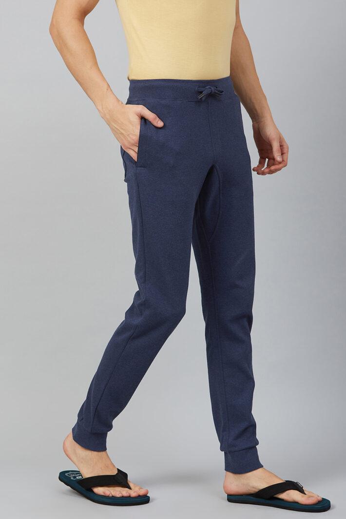 Fahrenheit Interlock Pant with Ribbed Hem Blue