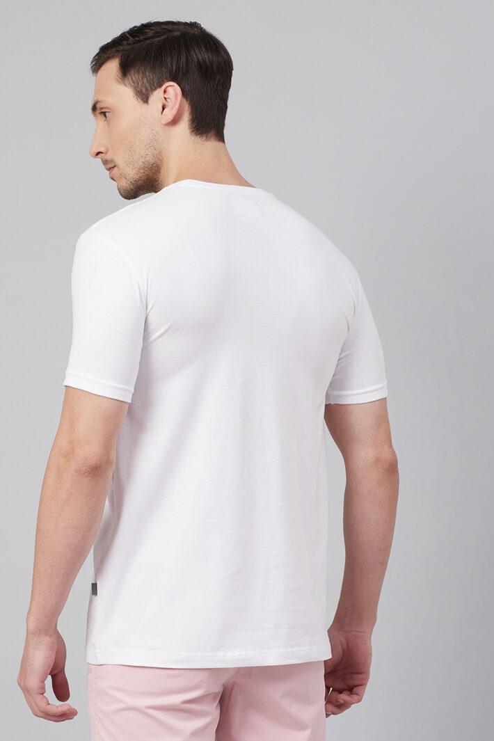 Fahrenheit Round Neck With Heart Rhythm Print White