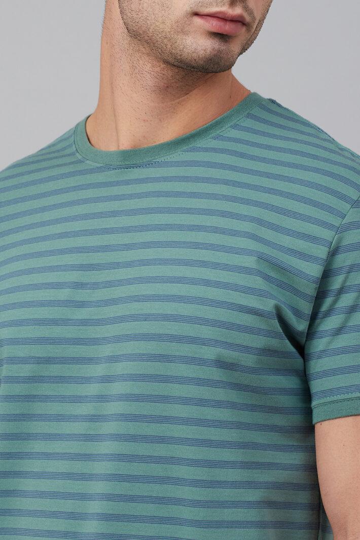 Fahrenheit Round Neck Colourblock Feeder Stripes