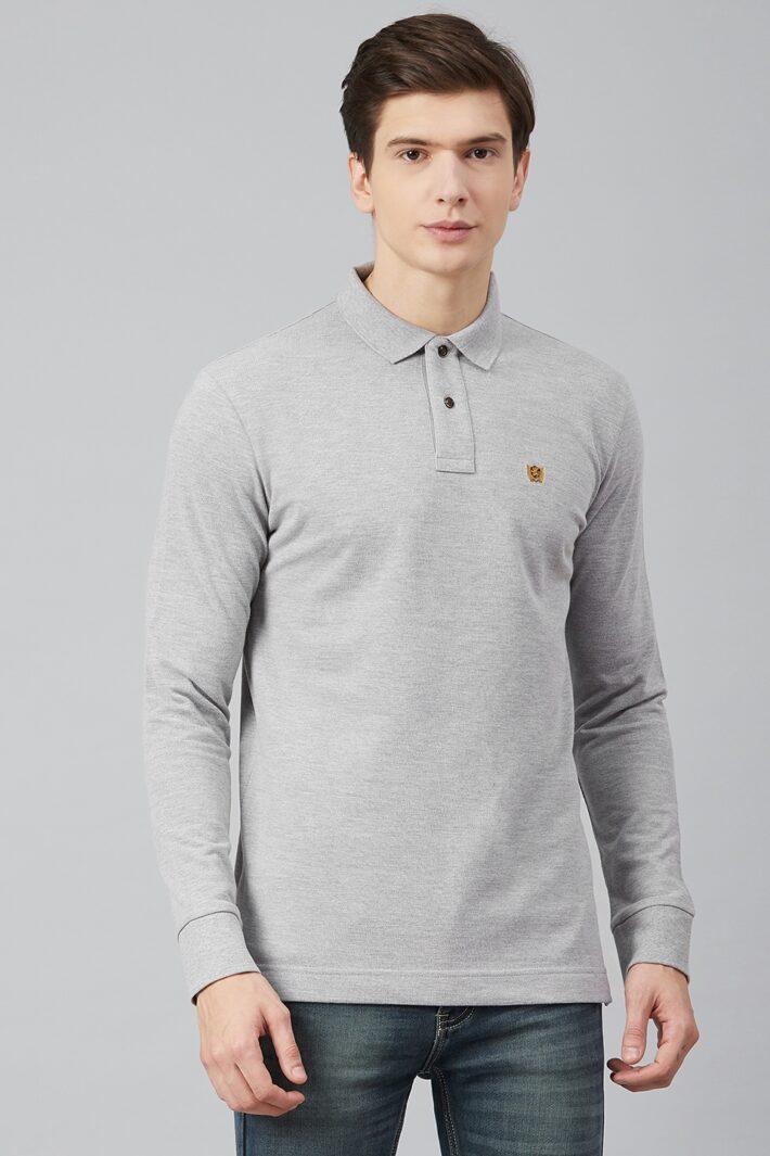 Fahrenheit Solid Pique Polo Grey