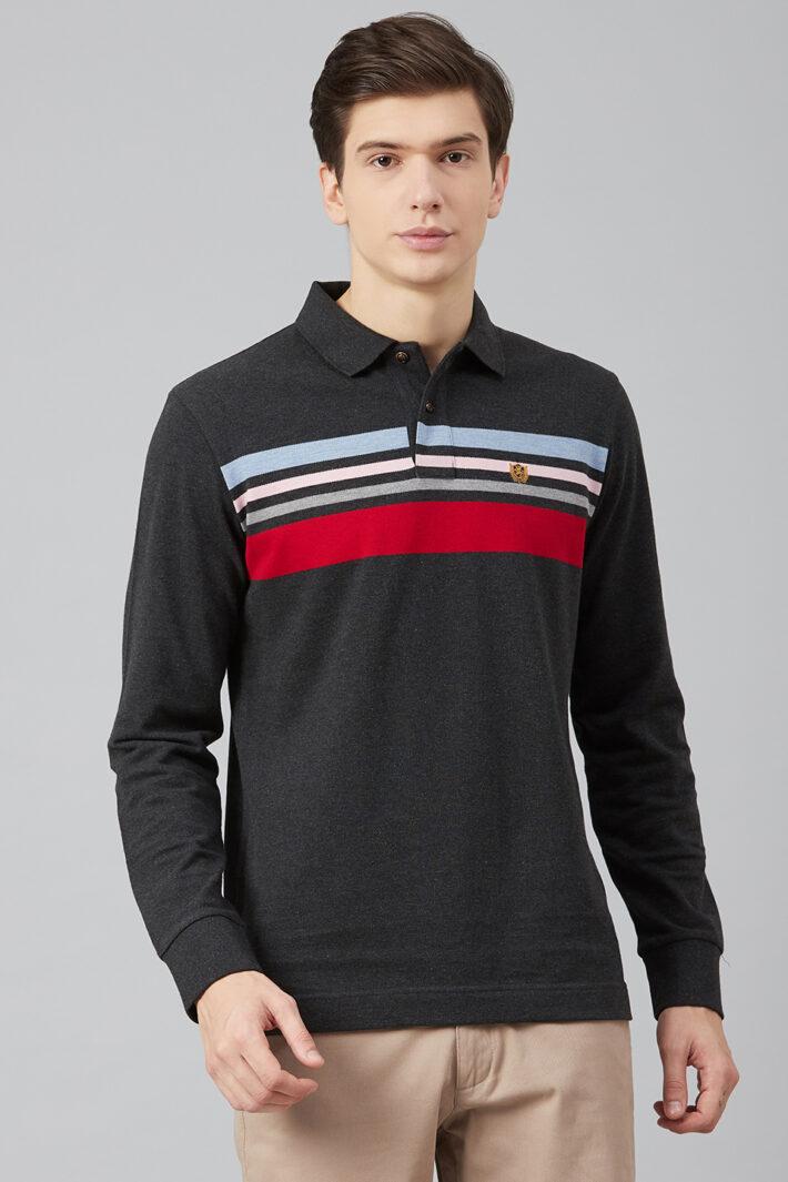 Fahrenheit Chest Stripe Pique Polo