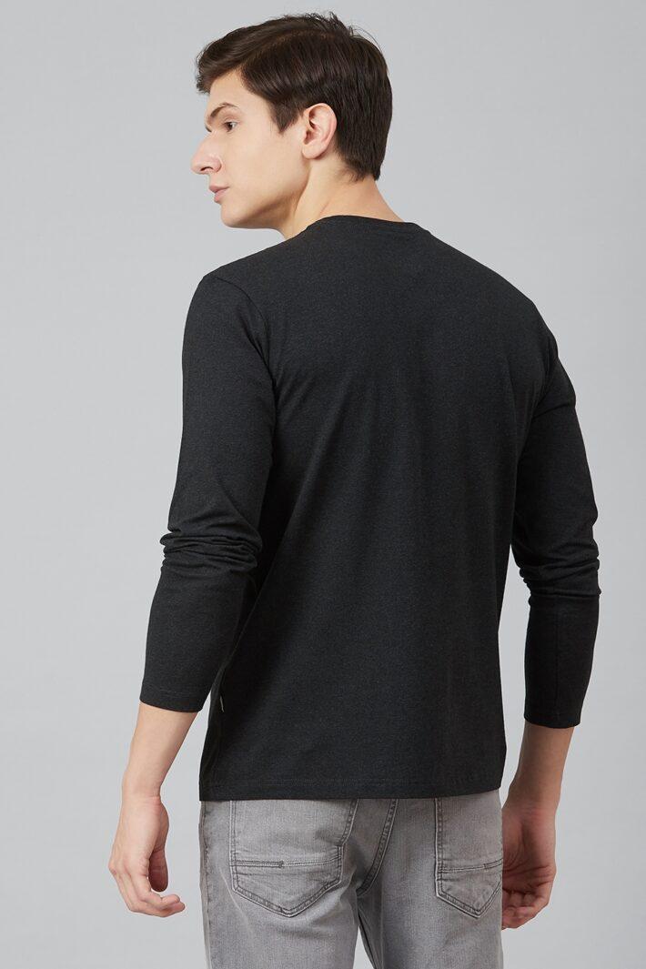 Fahrenheit Lycra Jersey Round Neck Black