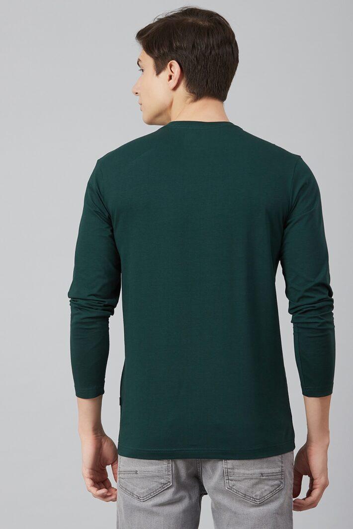 Fahrenheit Lycra Jersey Round Neck Green