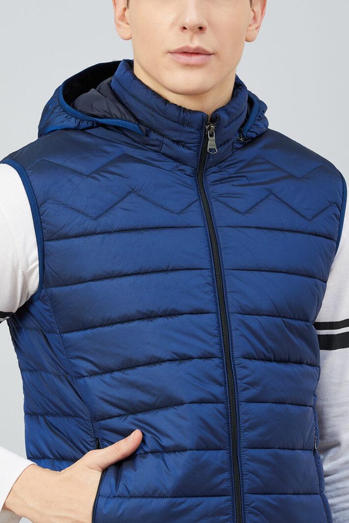 Fahrenheit Hooded Sleeveless Jacket Blue