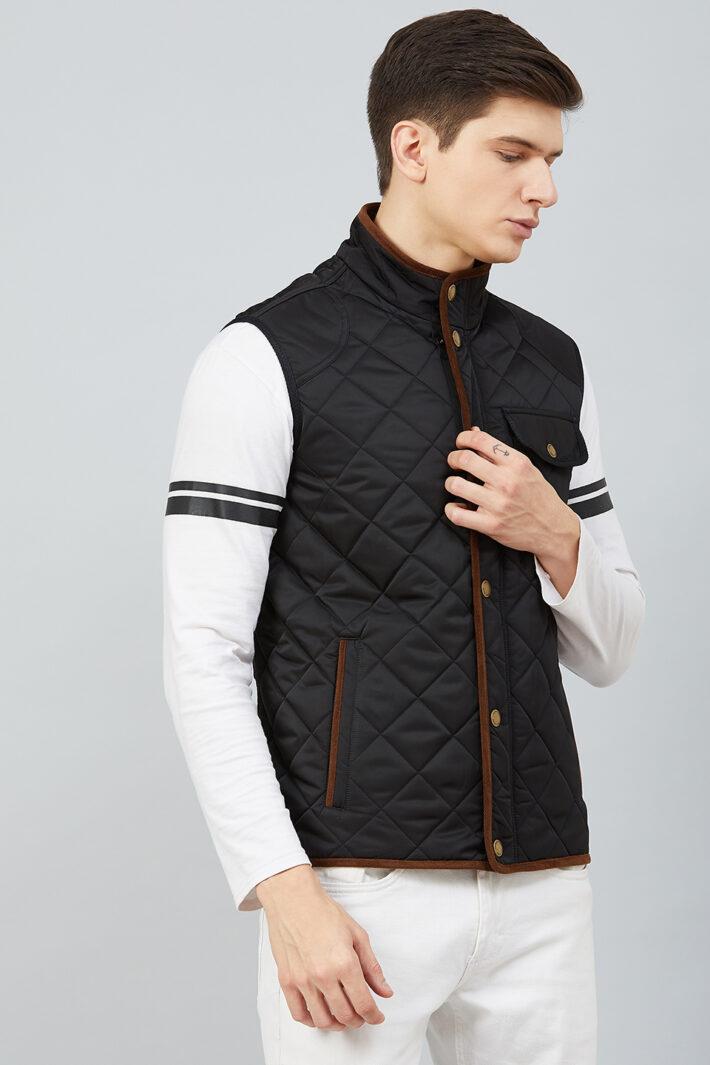 Quilted Sleeveless Jacket Black