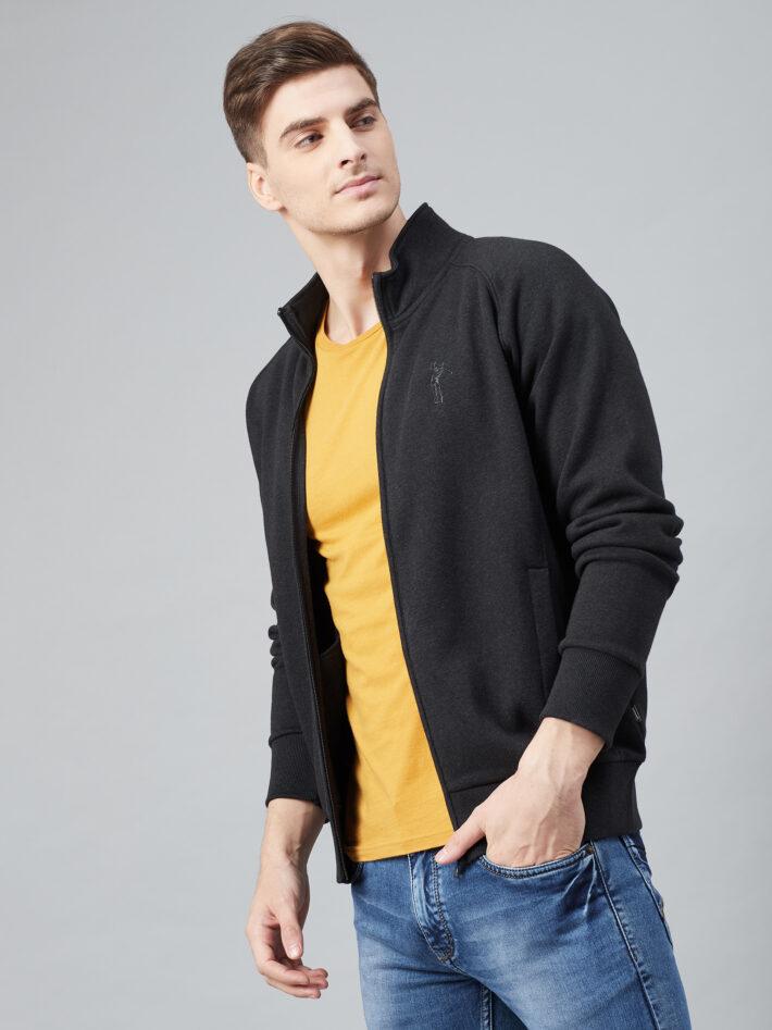 Fahrenheit Stand Up Collar Zip Sweatshirt