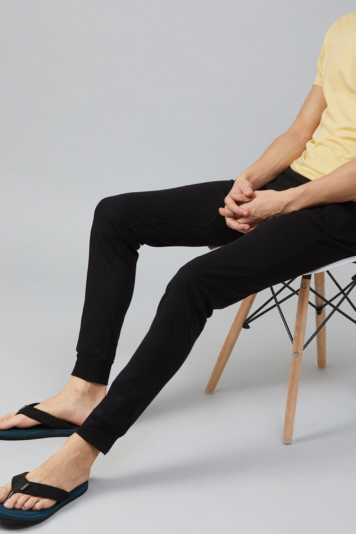 Fahrenheit Interlock Pant with Ribbed Hem Black
